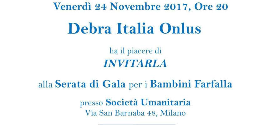 Venerdì 24 novembre | Serata di Gala per i Bambini Farfalla